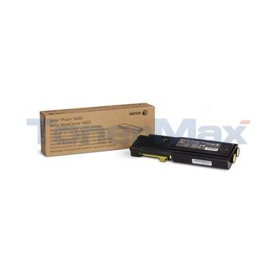 XEROX PHASER 6600N TONER CARTRIDGE YELLOW
